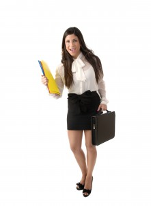 Businesswoman with Briefcaseq